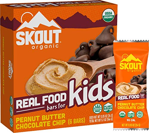 Skout Organic Peanut Butter Chocolate Chip Real Food Bars...