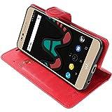 ebestStar - kompatibel mit Wiko Upulse Lite Hülle Kunstleder Wallet Case Handyhülle [PU Leder], Kartenfächern, Standfunktion, Rot [Phone: 144 x 72 x 8.4mm, 5.2'']