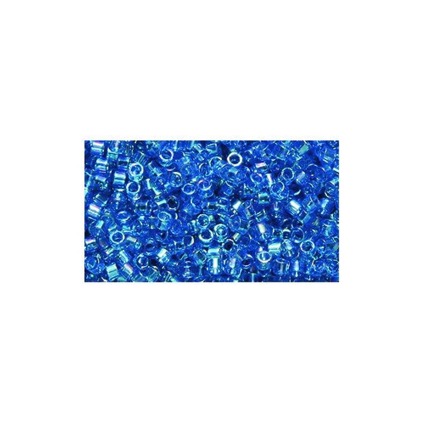 Miyuki Delica Seed Bead 11/0 DB177, Transparent Aquamarine Aurora Borealis Finish, 9-Gram/Pack