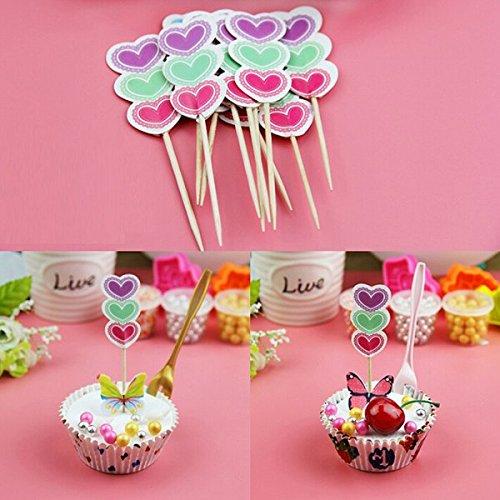 Bluelover Cake Topper, 12 stuks, verjaardagscadeau, cupcakes, taartdecoratie