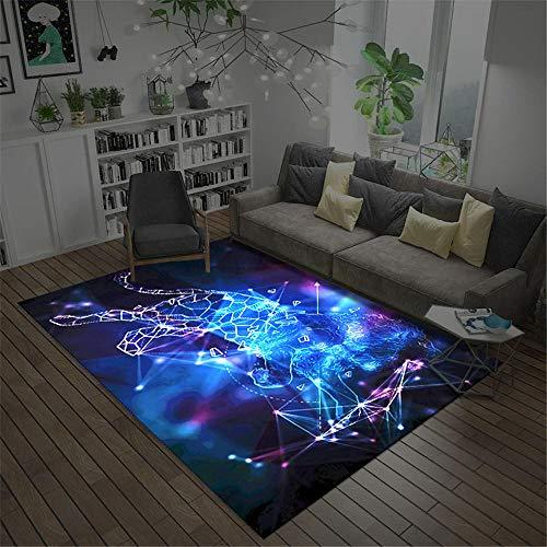 Alfombra Salon,Alfombra Azul, Estrella, Estrellas, té cómodo, Algunas alfombras, Alfombra Salon -Azul_160x230cm