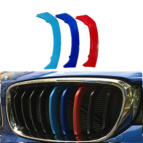 Für 13-16 3 Serie GT F34 (9Gitter) 3 Colors M Styling Front Grille Trim Strips Cover Stickers 3Stück