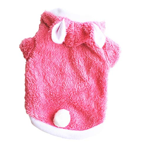 1pc Hundemantel für kleine Hunde Kleidung Warm Dog Jumpers Hundekleidung Pet Coat für Welpen Pet Puppy Thicken Fleecejacke Herbst Winter Dick Warm Warm Velvet Pink S.