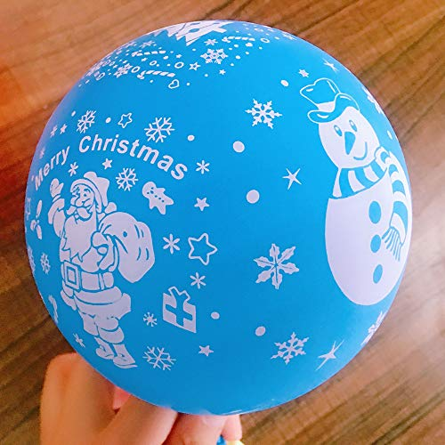 Kerstballon 12 inch dik bedrukt patroon scene lay-out ballon Christmas - 100 Snowflakes