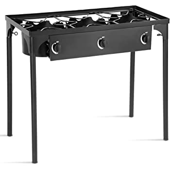 Outdoor Camp Stove High Pressure Propane Gas Cooker Portable Cast Iron Patio Cooking Burner
