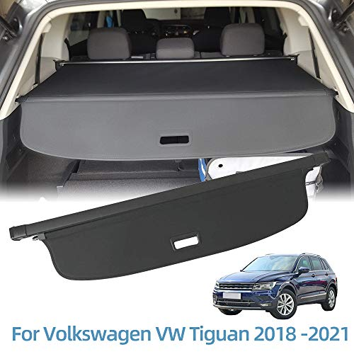 Vesul Retractable Cargo Cover Fit for Volkswagen VW Tiguan 2018 2019 2020 2021 Security Shade Shield Tonneau Cover Anti-Peeping Luggage Privacy Screen