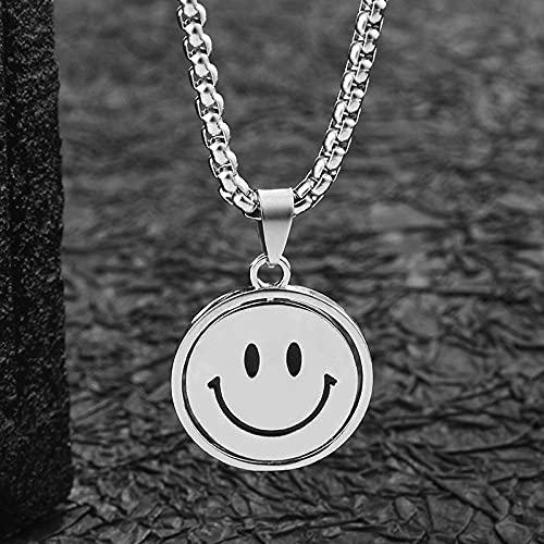 maozuzyy Collar Colgante Joyería Collar De Hombre Collar Minimalista Tendencia Colgante Cuelga Collar Cruzado Clásico Simple-Sonrisa Llorando