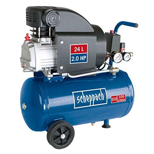 Scheppach HC25 Compressor, 1500 watt, 24 liter, 8 bar, aanzuigvermogen 220 l/min, oliegesmeerd)