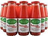 12 Bottiglie Salsa Di Pomodoro Calabrese Naturale Italiano Valle Del Crati Passata Di Pomodori Senza Glutine Salsa per Pizza Prodotto Vegano Per Sugo Condimenti Pronta in 5 Minuti Vetro Da 720 Ml