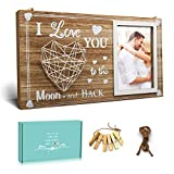 ACEMERALD 4x6 Valentine's Day Wood Photo Frame-Table Display or Wall...