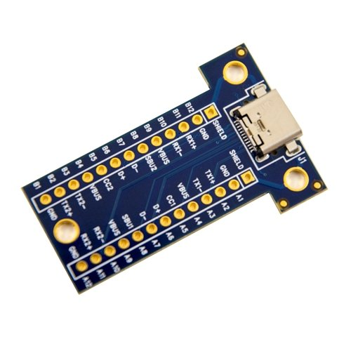 USB Type C Female Receptacle Breakout Board v2.0