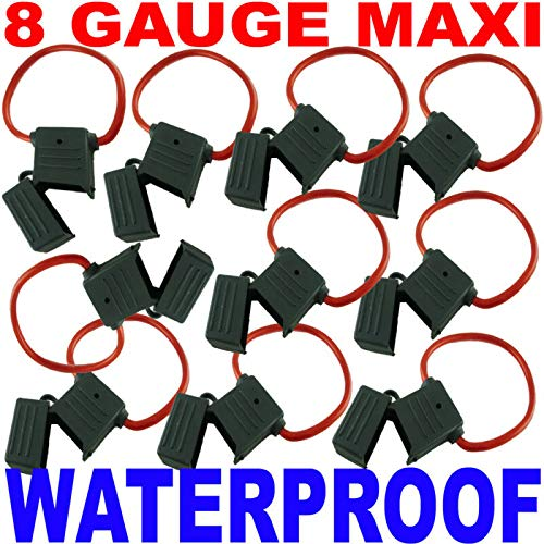 8 Gauge AWG Ga Waterproof Maxi Fuse Holders New Pack