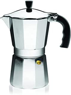 IMUSA USA B120-42V آلومینیوم اسپرسو Stovetop قهوه ساز 3 جام، نقره ای