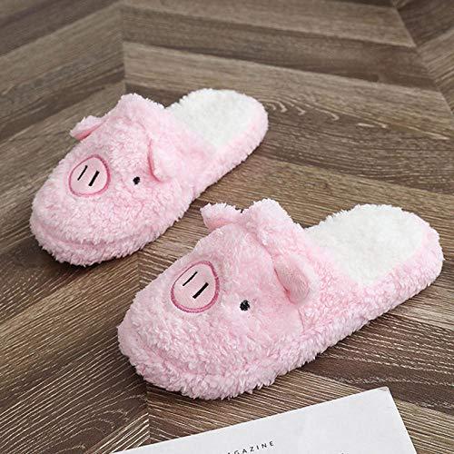 Hausschuhe Slipper Pantoffeln Damen Herren Winter Hausschuhe Frauen Zimmer Schuhe Für Frauen Schöne Indoor House Frauen Folien Frauen-Schwein-Pink_Eur_38_-_ Asia_39