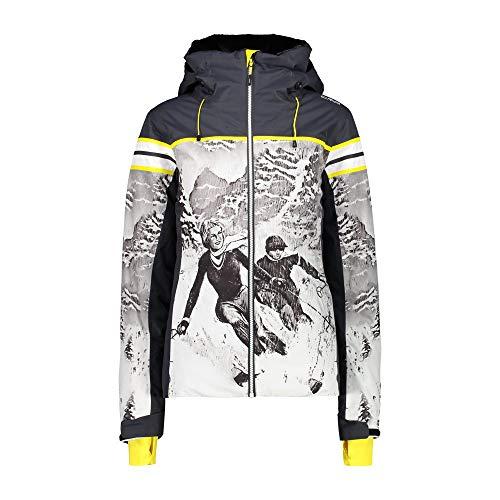 CMP Chaqueta de esquí con estampado, Mujer, 30W0826, antracita, 44