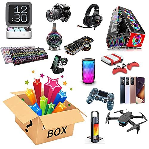 JEDNF Caja de Misterio Producto electrónico Aleatorio, Caja de Sorpresa de Suerte electrónica para Drones, smartwatches, Auriculares, etc.