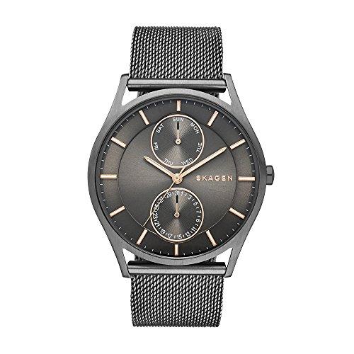 Skagen Herren Analog Quarz Uhr mit Edelstahl Armband SKW6180