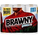 Brawny Paper Towels, 6 Large Rolls, Pick-A-Size, 80 Sheets Per Roll