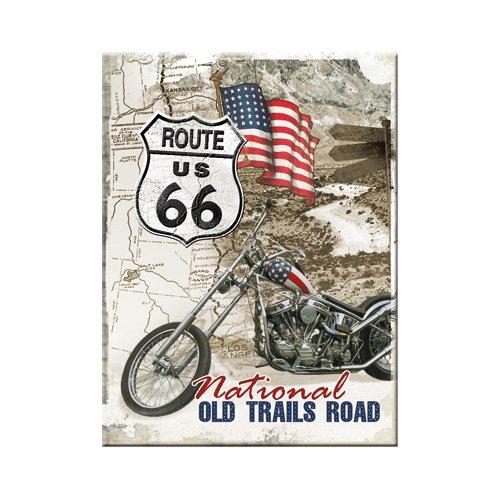 Nostalgic-Art 14277 US Highways Route 66 Old Trails Road Magnet, 8 x 6 cm