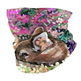 Lawenp Bufanda caliente Unisex Face Bandana Oil Painting Of Young Deer In Wild Landscape With Spring Or Summer Colorful Flowers Protection Sun Uv Dust Protection Breathable-Fashion Headband