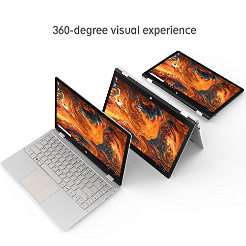 "Convertibile 2in1 Notebook 13.3 Pollici con SSD da 128GB - Winnovo PC Portatile VokBook Intel Celeron N3350 Windows 10, Dual WIFI, 4GB RAM+32GB eMMC, 13.3"" Schermo Touch Full HD IPS, Argento [Italia]"