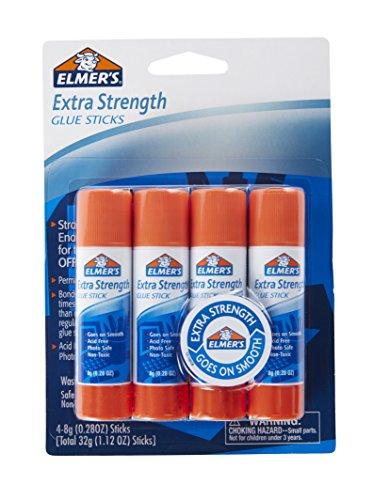 Elmer's-E5010 Extra Strength Glue Sticks, 0.28 Ounces, 4 Count