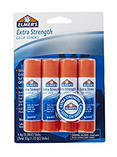 Elmer's-E5010 Extra Strength Glue Sticks, 0.28 Ounces, 4 Count (B003ULD18E) | Amazon price tracker / tracking, Amazon price history charts, Amazon price watches, Amazon price drop alerts