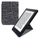 kwmobile Funda Compatible con Kobo Nia - Carcasa magnética de Origami para e-Book - física Blanco/Negro