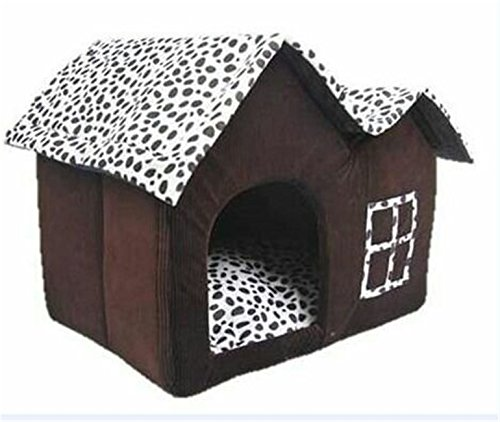 high-grade confortevole caldo doppio tetto caffè macchie Dog Cat House Home Pet Bed Nest canili
