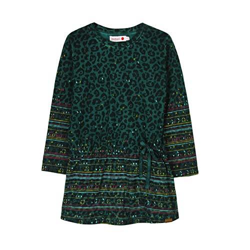 boboli 466039 Vestido, Verde (Botella 4430), 7 años (Tamaño del Fabricante:7) para Niñas