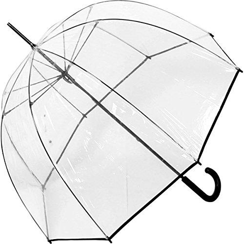 Paraguas Clásico Transparente forma Cúpula