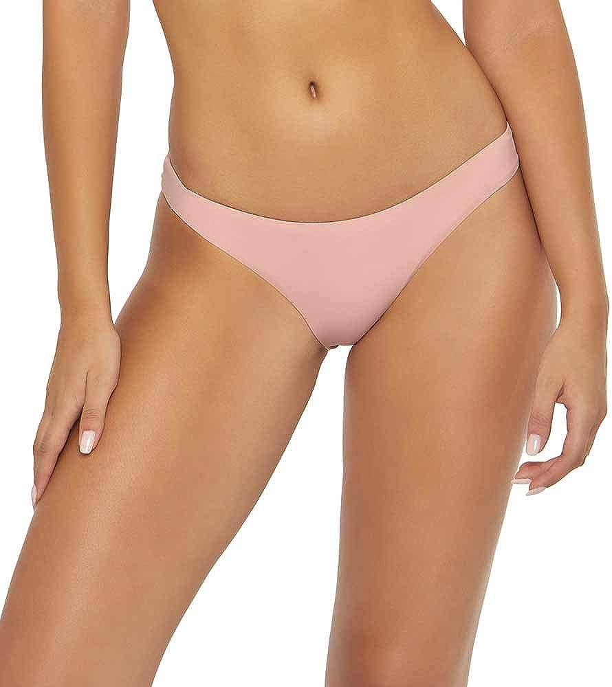 PilyQ Womens Hipster Ruched Bikini Swim Bottom