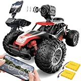 GizmoVine Remote Control Car with Camera, RC Cars 1:14 Scale Off-Road Monster Trucks Toy Cars for Kids and Adult High Speed Racing Monster Buggy with 2 Rechargeable Batteries(Red)