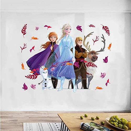 3D Frozen Cartoon Wandaufkleber für Kinderzimmer, Kindergarten Schlafzimmer Wanddekoration Filmplakate