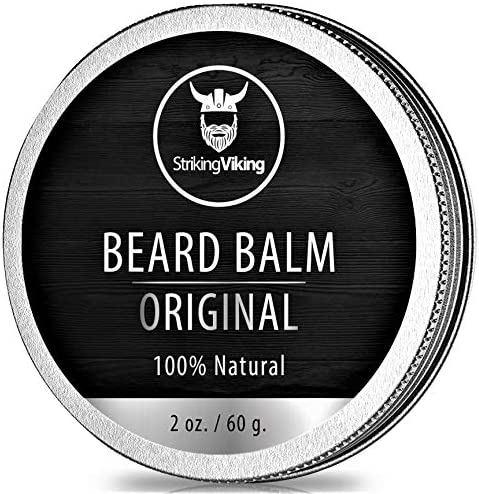 Unscented Beard Balm Styles Strengthens Softens Beards and Mustaches 100 Natural Beard Conditioner product image