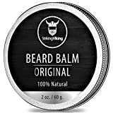 Unscented Beard Balm - Styles, Strengthens & Softens Beards and Mustaches - 100% Natural Beard Conditioner with Organic Shea Butter, Tea Tree, Argan & Jojoba Oils by Striking Viking