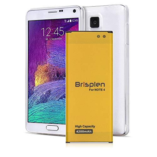 Galaxy Note 4 Battery, Brisplen 4200mAh High Capacity Li-Polymer Replacement Battery for Samsung Galaxy Note 4 N910, N910U LTE, N910V (Verizon), N910T (T-Mobile), N910A (AT&T), N910P (Sprint)