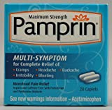 Pamprin Maximum Strength Menstrual Pain Relief Multi Symptom -- 20 Capsules - 2pc