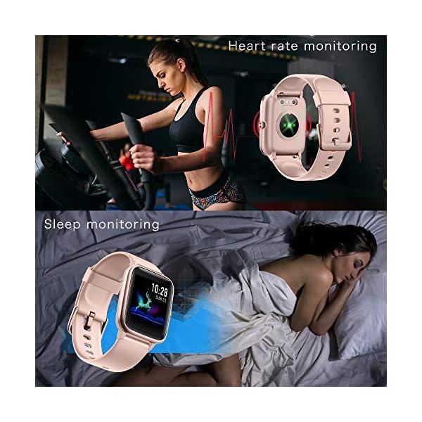 YONMIG Reloj Inteligente Mujer y Hombre, Smartwatch Impermeable IP68 Pulsera Actividad Deportivo con Monitor de Sueño… 5