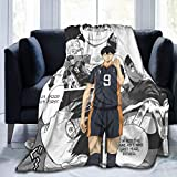XCNGG H-a-i_k-y-u-u Kageyama Tobio Blanket Ultra-Soft Micro Fleece Blanket Throw Super Soft Fuzzy Lightweight Manta para Cama Sofá Sala de Estar 50 'X40'