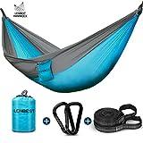 lenbest Double Fonction Hamac de Voyage Camping, Respirant Portable Durable, 300 kg Capacité de Charge, (275 x 140 cm) Nylon à...