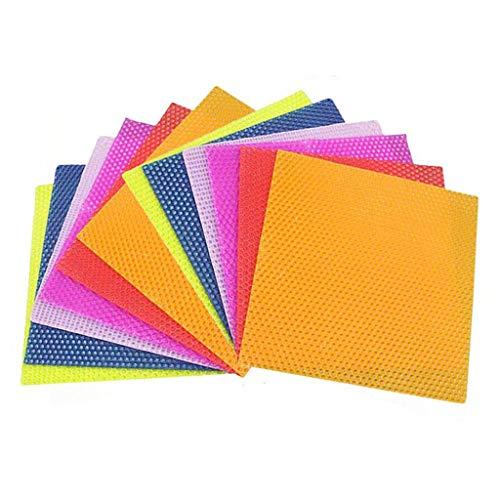 Xuebai 12 Piezas Kit de fabricación de Velas de Cera de Abejas DIY Hojas de Panal Coloridas Kit de Velas enrolladas Hojas de Velas de Cera de Abejas Color Aleatorio