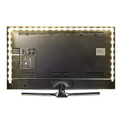 118inches LED TV Vorbeleuchtungspegel Hintergrundbeleuchtung Streifen-warme Weiß-Streifen-Kit, USB Powered, Ambient Hintergrund-Beleuchtung for HDTV TV PC Monitor LD1281. elektronisches Zubehör