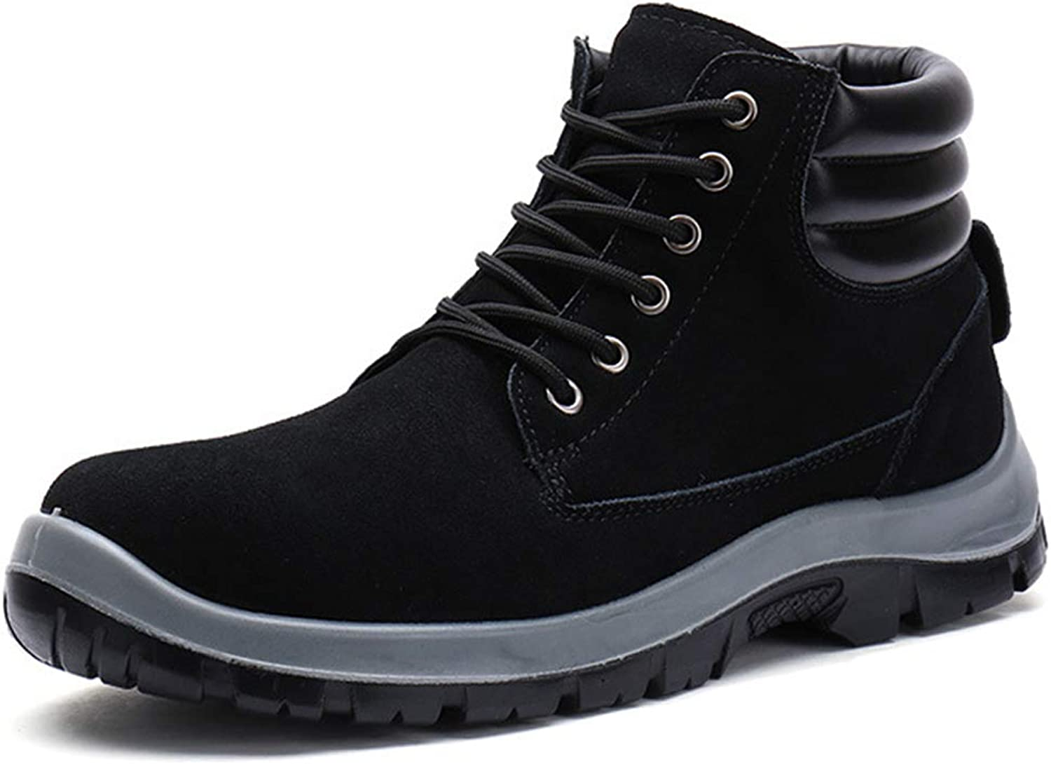 Men's Steel Safety Work shoes Fashion Ankle Boots Martin Boots Lace Up Derby shoes