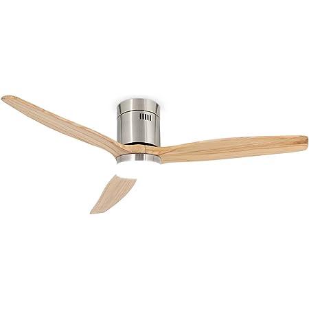 CREATE IKOHS WINDCALM DC STYLANCE NICKEL - Ventilateur de plafond 40 W DC Reverse avec lumière