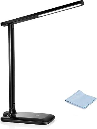 VTIN Lámpara Escritorio LED, 42 Leds con 3 * 3 Modos de Brillo (Luz cálida,Blanca y Mixta) Control táctil lámpara Escritorio Flexo para La Lectores Noche, Ninos, Cama, Tablet, Laptops(5w, 400Lm)