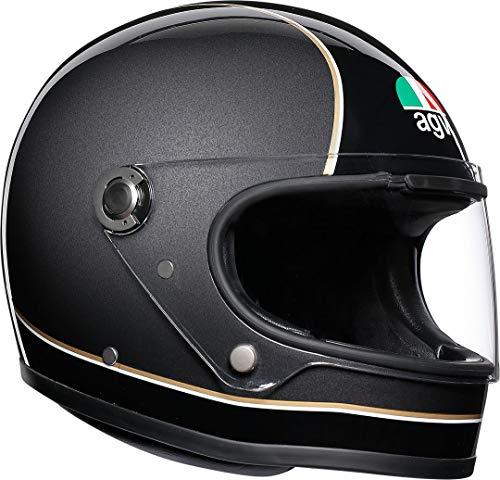 AGV X3000 Super Nero Grigio Giallo Motociclo Casco