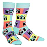 Sock It To Me Men's Say Cheese Retro Camera Photographer Crew Socks