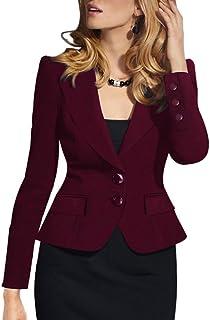 Amazon.es: Rojo - Trajes y blazers / Mujer: Ropa