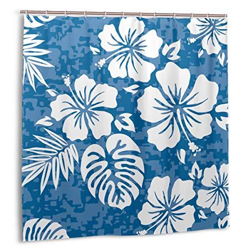 xiaolang Flor Aloha Hawaiian Pattern Hibiscus Hawaii Tiki Surf Polynesian, Decoración del hogar Cortina de Ducha 60inX72in